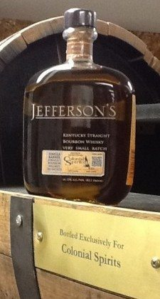 Colonial Spirits' Jefferson's Bourbon Selection