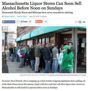 Massachusetts Sunday Liquor Store Hours