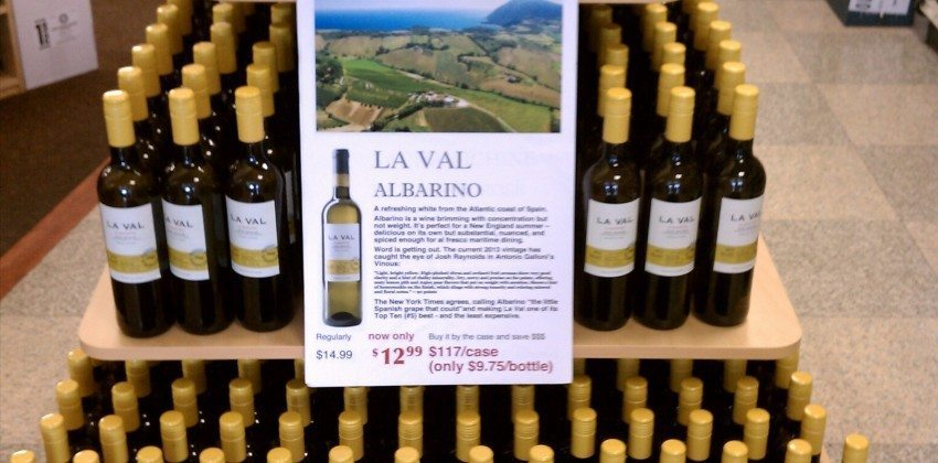 On Sale at Colonial Spirits – La Val Albarino White Wine
