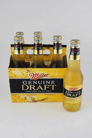 Miller Genuine Draft - 6 pack