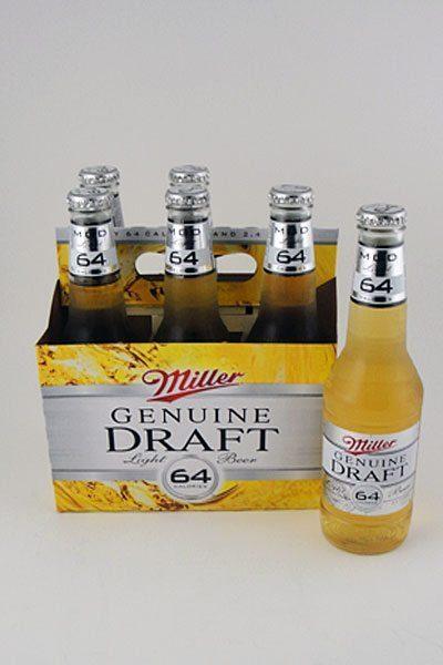 Miller Genuine Draft 64 Light - 6 pack
