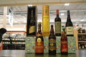 holiday spirit, holiday liquor, happy holidays2017, christmas beer, whiskey, christmas shopping, one stop shop, holiday shopping, rye whiskey, barleywine, pinot noir, south african wine, wild ales, last minute gifts, alcohol is the best gift