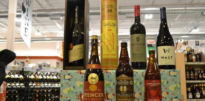 Staff picks, holiday spirit, holiday liquor, happy holidays2017, christmas beer, whiskey, christmas shopping, one stop shop, holiday shopping, rye whiskey, barleywine, pinot noir, south african wine, wild ales, last minute gifts, alcohol is the best gift