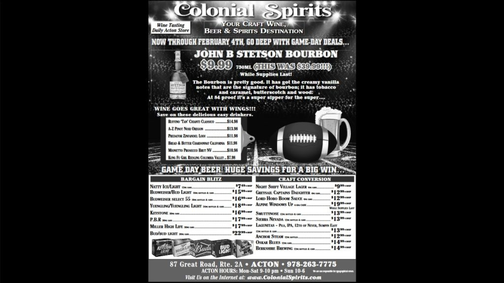 Our full sale ad for the big game!
