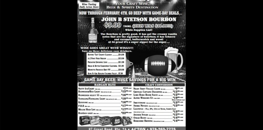 The Big Game is Fast Approaching and Colonial Spirits is Prepared!