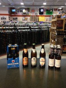 This is a great lineup of German beers we just brought in. Some are classically made, the one on the right is very innovative!