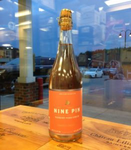 A very nice special release cider from a great cidery...Blueberry Peach Cobbler!