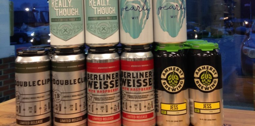 Fantastic lineup in this pic...A raspberry berliner, a witbier, 2 Double IPA and a single IPA.
