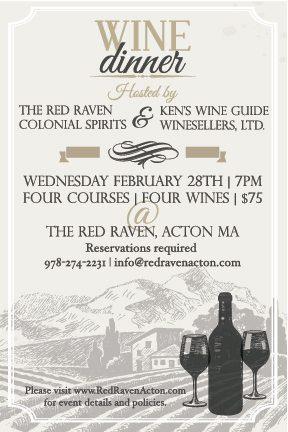 Red Raven Wine Dinner Flyer