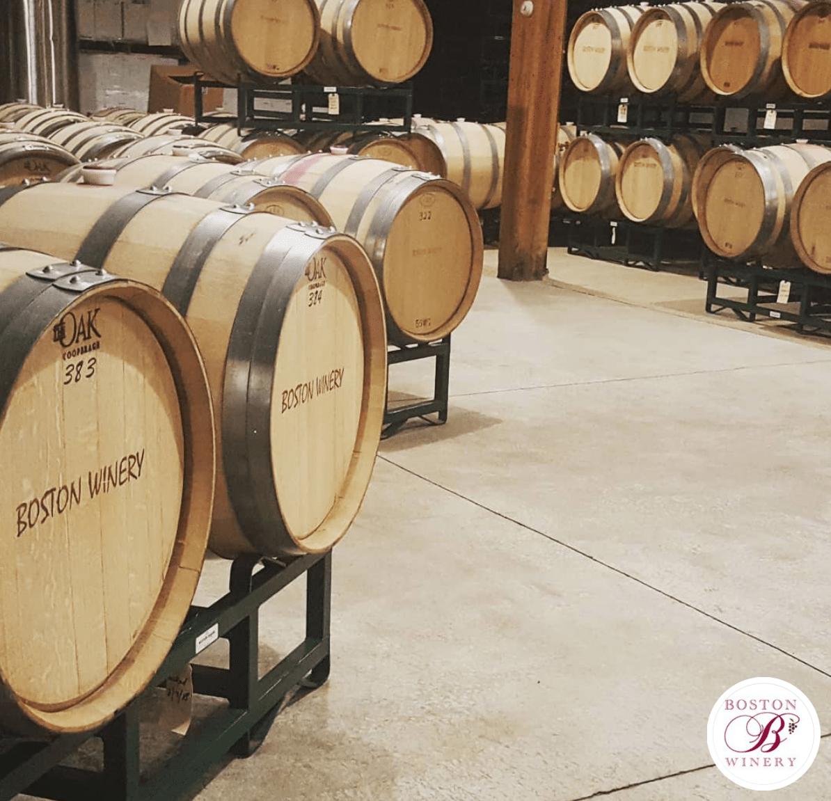 Boston Winery Barrel Room